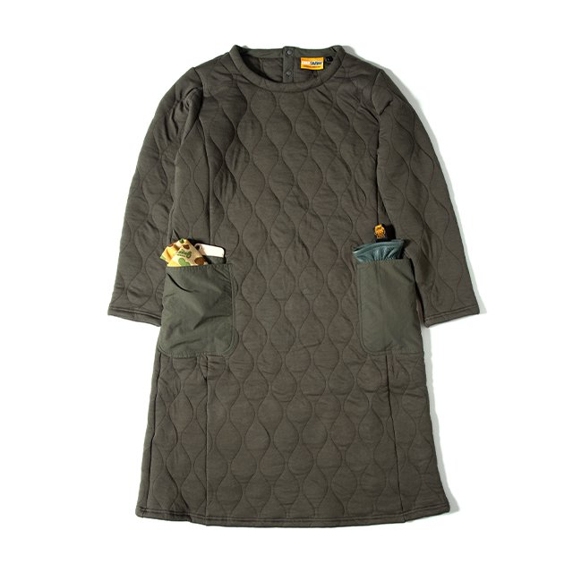 [GSW-02] CAMP QUILT ONE PIECE / OLIVE