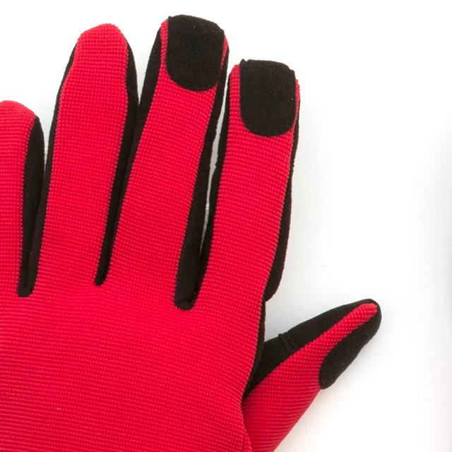 [G-5-06] GS WORK GLOVE BLACK / RED