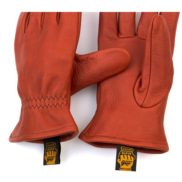 [G-50] LEATHER WORK GLOVE / RED