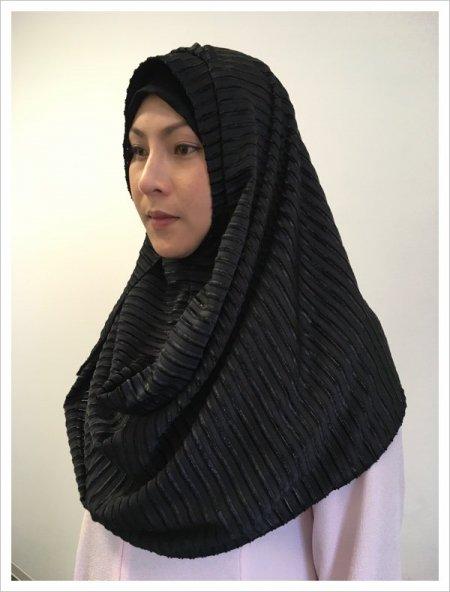 冬ヒジャブ!日よけ寒さよけにも♡簡単に被れるヒジャブhijab!初めて買うならカラーはブラック!