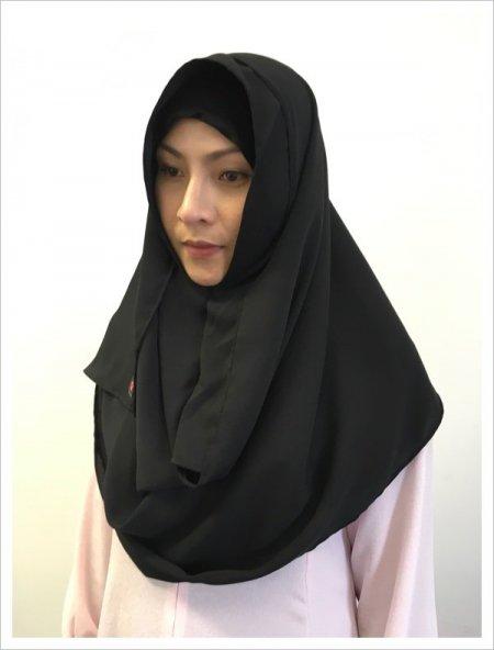 【NEW】イスラム観光に♡簡単に被れるヒジャブhijab!初めて買うならカラーはブラック!