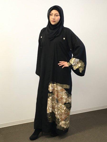 【NEW】新作kimono着物アバヤabaya💛日本の最高級の美!!着物KIMONOファッション!アバヤ!!