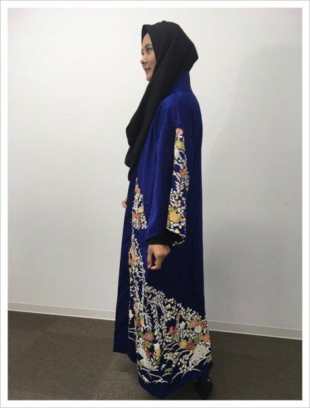 【NEW】新作kimono着物アバヤabaya💛日本の最高級の美!!着物kimonoファッション!kimono jacketにも!