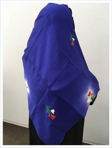 【世界に一枚しかない限定品】イスラム教徒へのお土産に悩まれている方へ。軽くて持ち運びも簡単。本物の着物を再生した、着物ヒジャブはお土産に最適です。