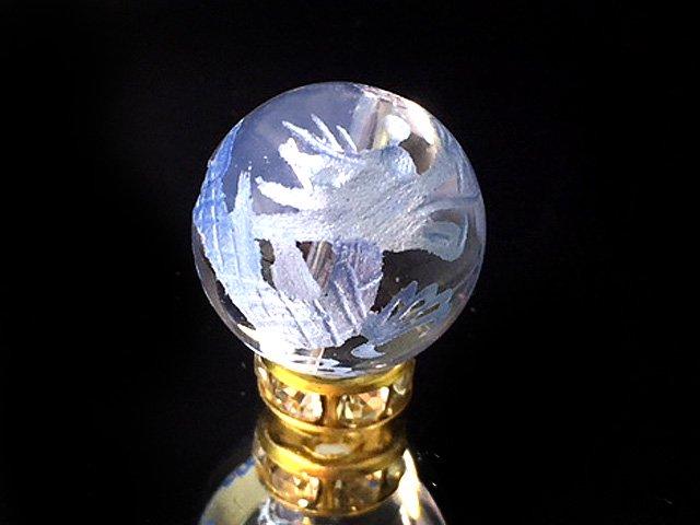 水色彫四神獣【青龍】水晶 14ミリ