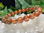 現品限り◆高級天然石AAAAオレンジキャッツアイルチルクォーツ 9ミリ数珠 OR-1