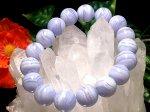 ブルーレースアゲート 12ミリ数珠 (巾着袋付)