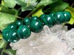 マラカイト 12ミリ数珠 (巾着袋付)