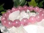 1点物◆天然石AAAディープローズクォーツ【マダガスカル産】11ミリ 数珠 DP-01