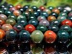 連素材◆天然石ブラッドストーン 1連 約40センチ 8ミリ