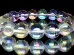 大特価☆天然石AAAアクアオーラ(レインボーオーラ)12ミリ 数珠
