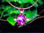天使の羽ペンダント 天然石◆AAAアメジスト (ピンクゴールド)