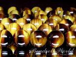 連素材◆タイガーアイ 6ミリ〜14ミリ 約40センチ