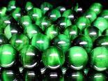 連素材◇グリーンータイガーアイ 4ミリ〜14ミリ 約40センチ