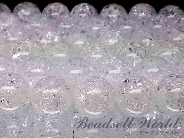 美麗!!天然AAAクラック水晶【爆裂水晶】 1連 約40センチ 4ミリ〜18ミリ
