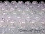 連素材◇クラック水晶(溶解/練)【爆裂水晶】 6ミリ〜12ミリ 約40センチ