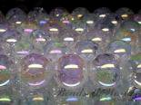 連素材◇オーロラクラック水晶(加工石)6ミリ〜16ミリ 約40センチ