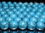 連素材◇ハウライトターコイズ(染色)6ミリ〜14ミリ 約40センチ
