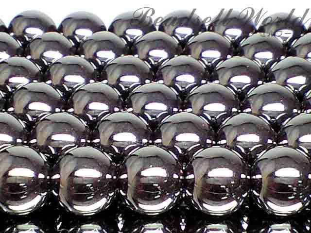 天然石AAAヘマタイト 1連 40センチ 6ミリ〜14ミリ