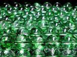 連素材◇グリーンクラック水晶/爆裂水晶(加工石) 6ミリ〜14ミリ 約35センチ