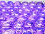 連素材◇パープルクラック水晶/紫爆裂水晶(加工石) 6ミリ〜14ミリ 約35センチ