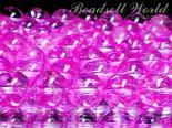 連素材◇ピンククラック水晶/爆裂水晶(加工石) 6ミリ〜14ミリ 約35センチ