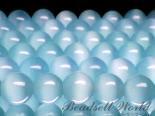 連素材◇ブルーキャッツアイ(人工石) 6ミリ〜12ミリ 約30センチ
