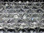 連素材◇64面カット水晶 6ミリ〜14ミリ 約40センチ