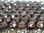 連素材◇64面カットスモーキークォーツ 6ミリ〜12ミリ 約40センチ