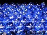 連素材◇ブルークラック水晶/青爆裂水晶(加工石) 6ミリ〜14ミリ 約35センチ