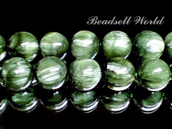 天然石 美麗セラフィナイト  6ミリ〜12ミリ 粒売り