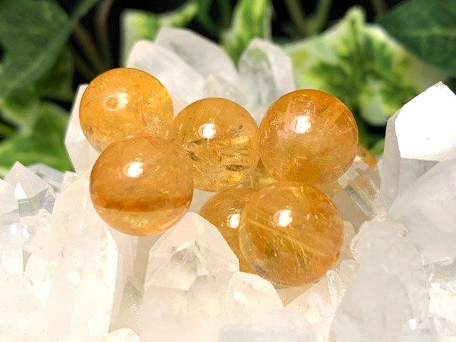 天然石シトリン【黄水晶】 粒売 6ミリ〜12ミリ
