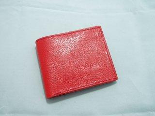 イタリアンレザー二つ折り財布 手縫い