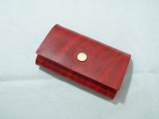 ベルギーレザー5連キーケース シンプル 手縫い