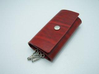 ベルギーレザー3連キーケース シンプル 手縫い