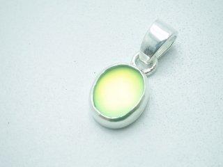 純銀ストラーチェガラスペンダントトップ