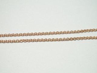 アズキチェーン ピンクゴールドメッキ 40cm
