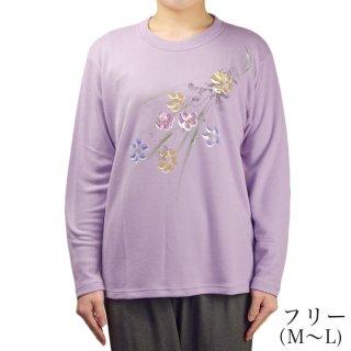 モダールポンチ手書きTシャツ2 フリー(M〜L)【日本製】【春〜夏】【シニアファッション】【ハイミセス】