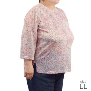 竹繊維混マルフク製Tシャツ LL【日本製】【春夏】【ミセス ハイミセス】