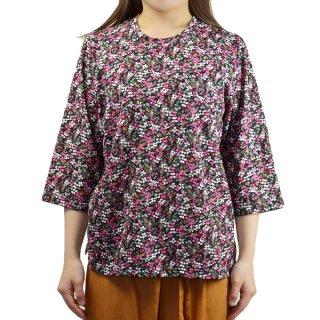 7分袖綿100%マルフク製Tシャツ S〜フリーサイズ 日本製