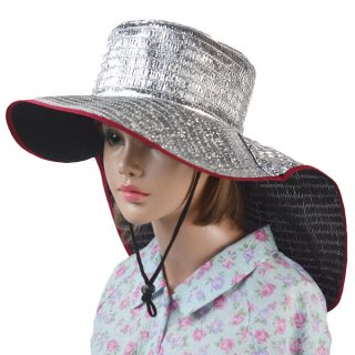 日除けアルミ帽子 日本製 涼しい ガーデニング 園芸 農作業 遮光率80%カット 軽い
