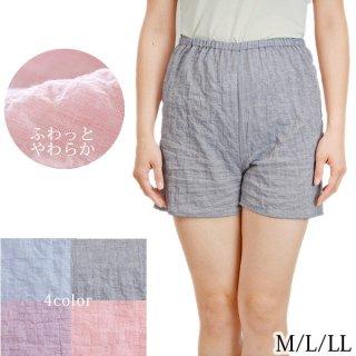 ショートパンツ レディース M/L/LL 日本製 夏 ルームパンツ 短パン ホットパンツ 4カラー