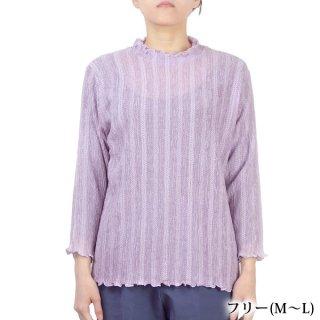 8分袖Tブラウス メロウ襟 フリーML 日本製 シニア レディース 婦人服 ギフト