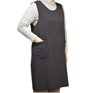 礼装用チリメンキッチン【エプロン】【フォーマル】【黒】