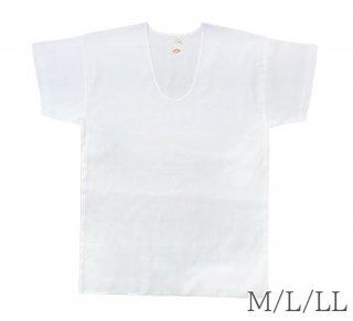 クレープU首シャツ【下着】【綿100%】【プレゼント】