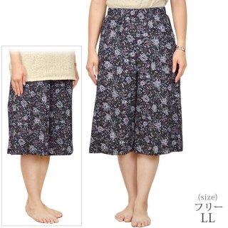 綿揚柳キュロットスカート【シニアファッション】【ミセス・ハイミセス】【LL】