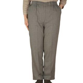 格子スラックス【おばあちゃん】【シニアファッション】【ミセス・ハイミセス】【婦人服】