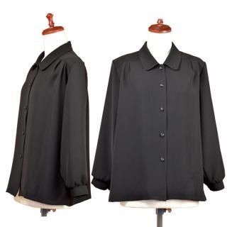 礼装用オーバーブラウス LL.・3Lサイズ【黒】【ミセス】【フォーマル】【冠婚葬祭】