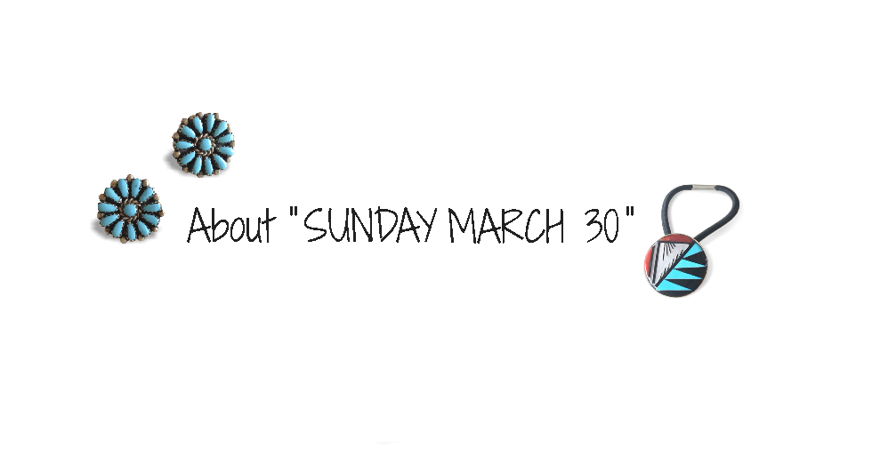 Story of SUNDAY MARCH 30