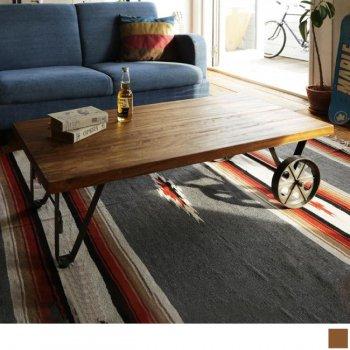 西海岸テイストヴィンテージ家具シリーズRicordoリコルド トロリーテーブル(w110)|人気のローテーブル通販店Sotao